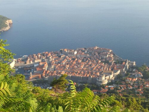 View of Dubrovnik old town