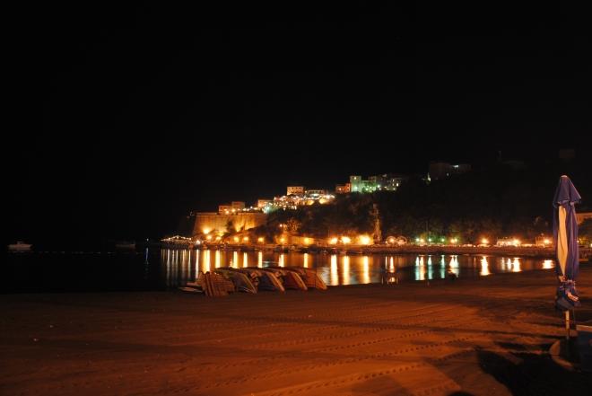 Ulcinj old town by night