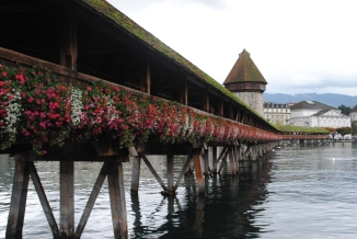 The Kapellbrücke in Lucerne