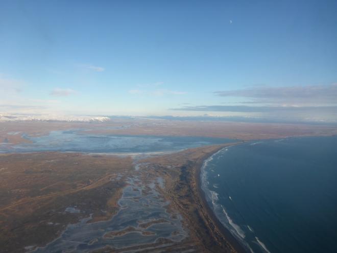 Flying from Reykjavik