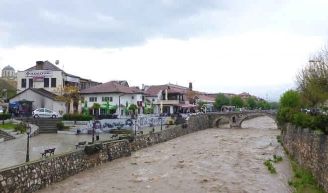 Along Lumbardhi river in Prizren