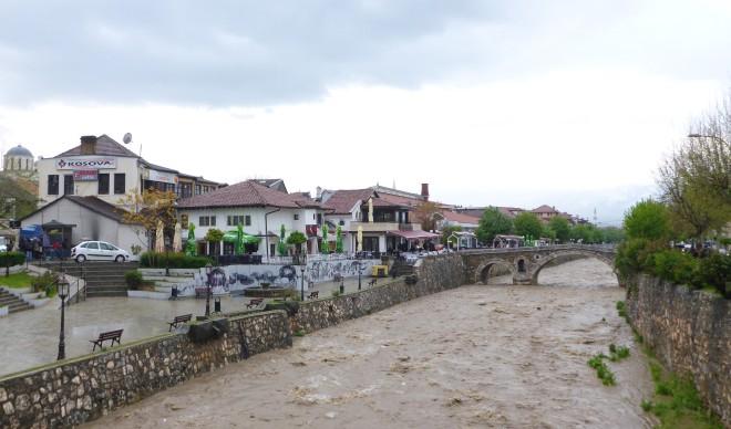 Along Lumbardhi river in Prizren