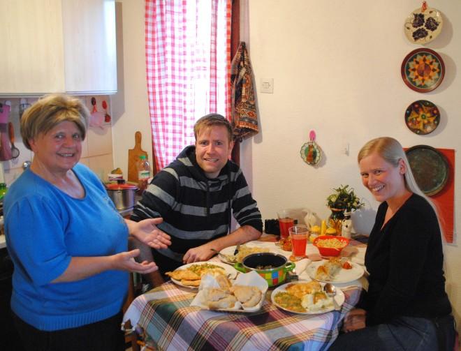 Ljiljanas fantastic home made dinner in Žabljak