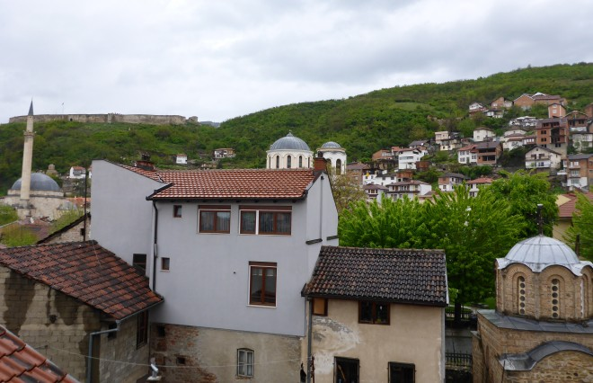 Nice view from our room at Centrum hotel in Prizren
