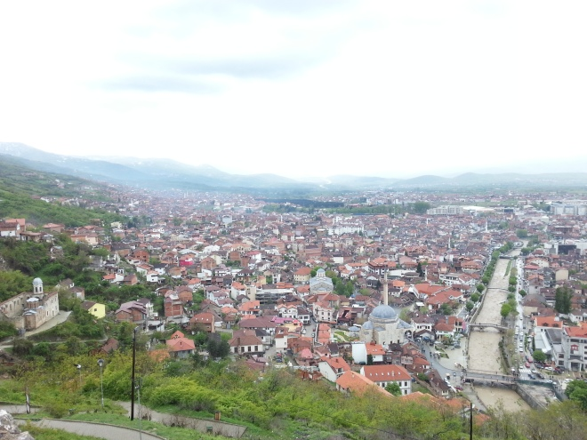 Prizren and the church of St. Spasa to the left
