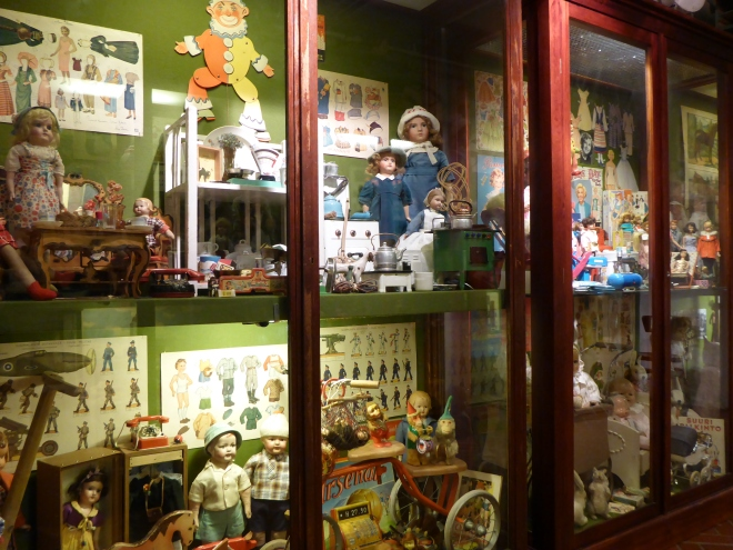 Collection of different toys at the Toy Museum.