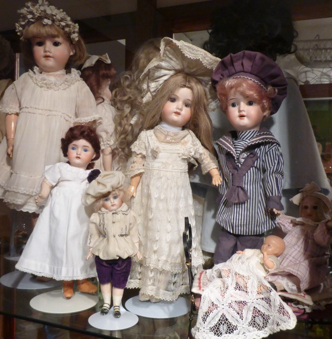 Dolls at the Toy Museum at Suomenlinna