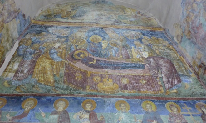Iconography inside the church.