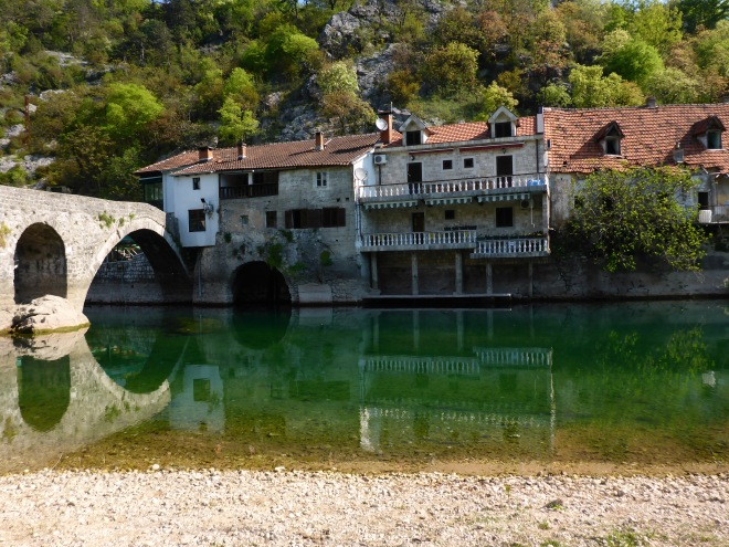 Old bridge and old houses
