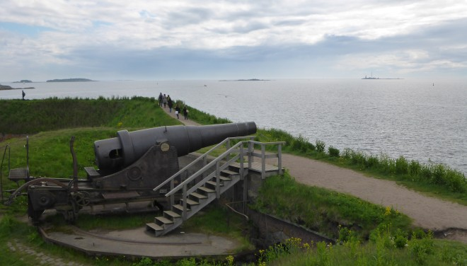 One of the Russian cannons from 1860-70. They were never used.