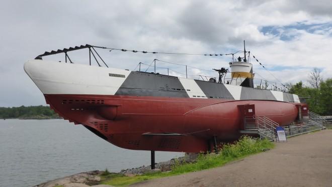 Submarine Vesikko at Suomenlinna
