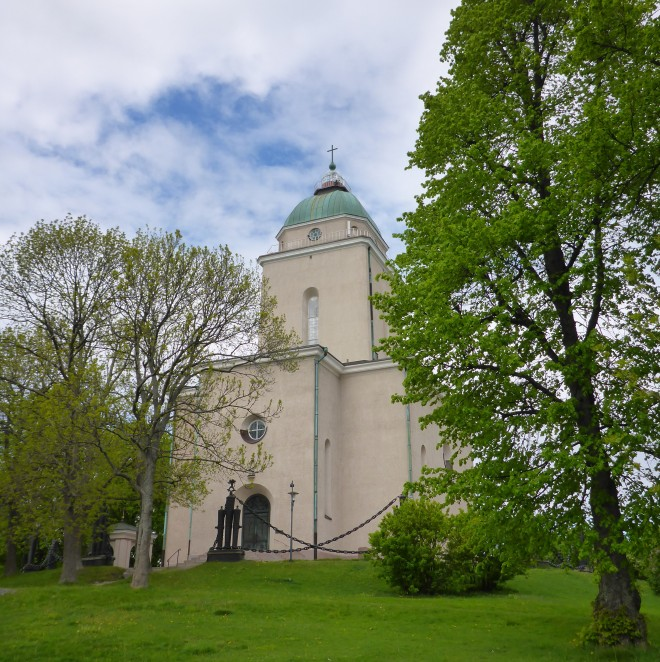 Suomenlinna Church. The tower also works as a lighthouse.