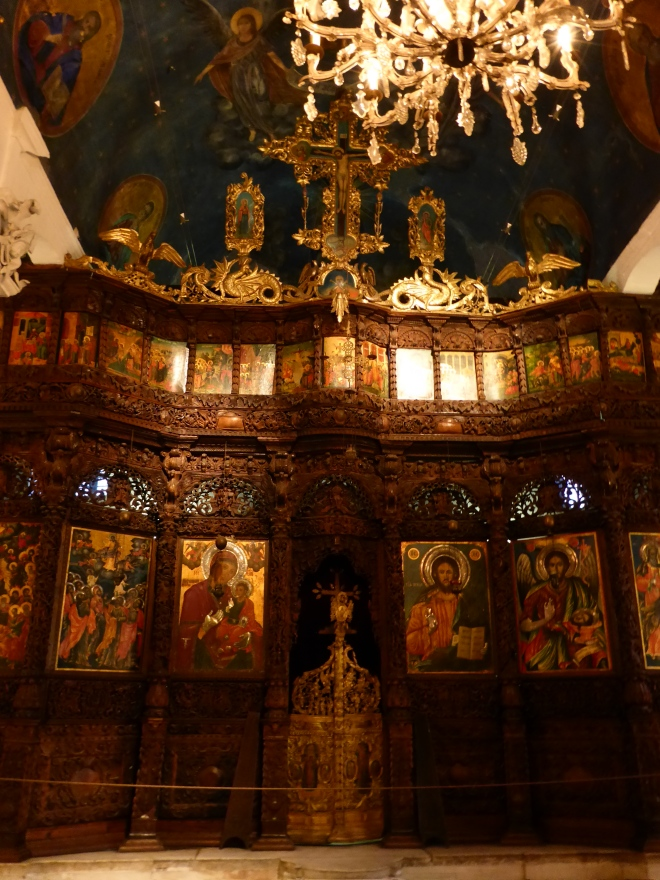 The beautiful inside of the Church of the Holy Saviour.
