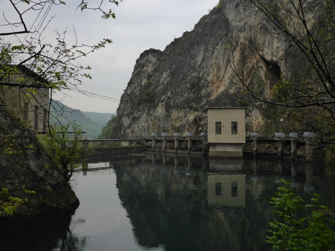 The power plant by Lake Matka.