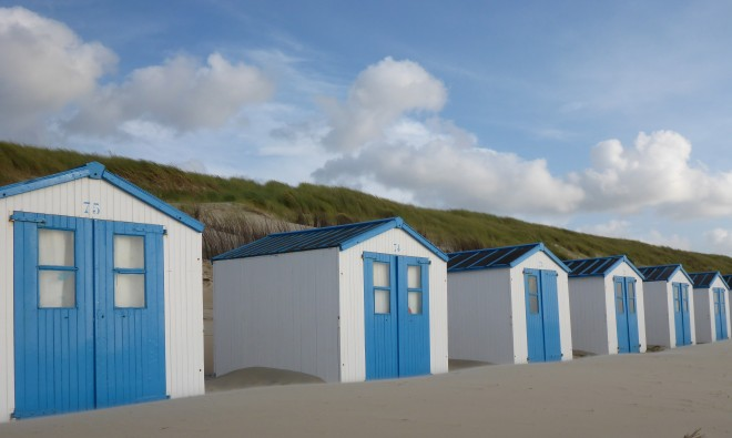 Beach houses on Texel