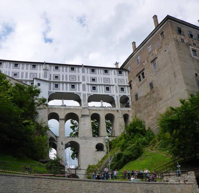 Castle bridge in Cesky Krumlov