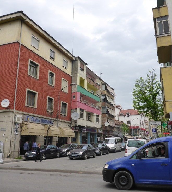 Colorful houses in Tirana 3