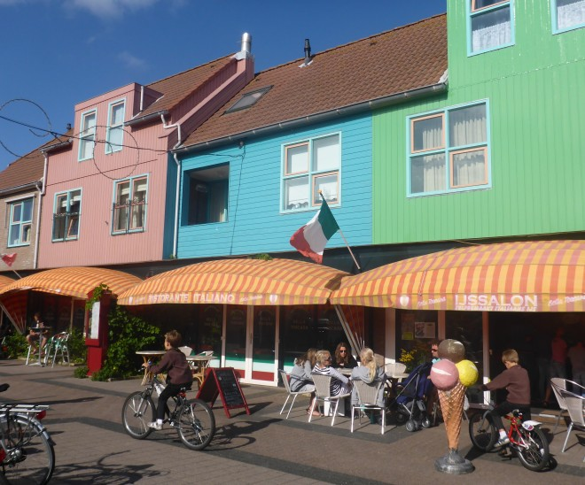 Colourful houses in De Koog on Texel