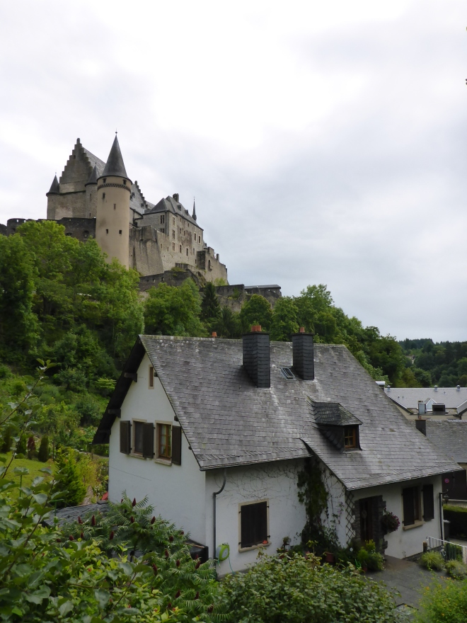 House and castle in Viaden in Luxembourg
