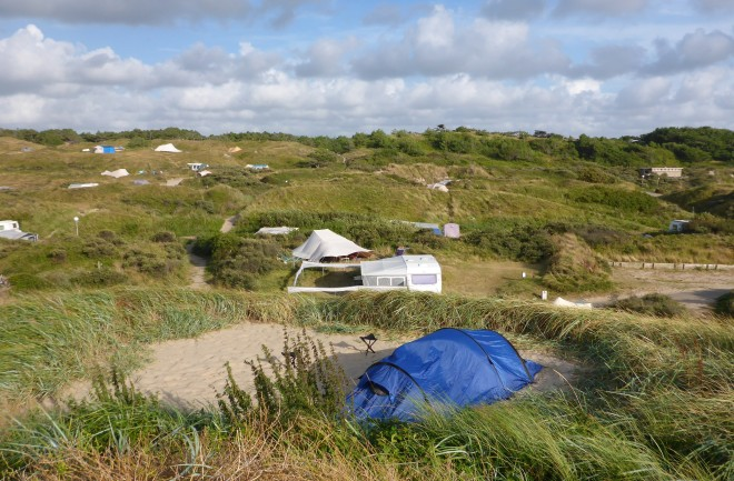 Our camp site at Texelcamping Kogerstrand on Texel.