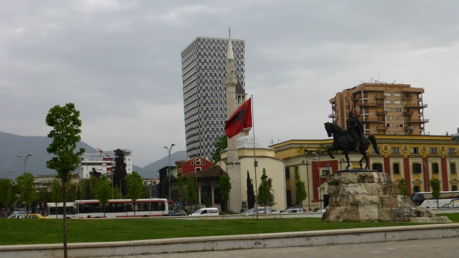 Skanderbeg Square in Tirana 2