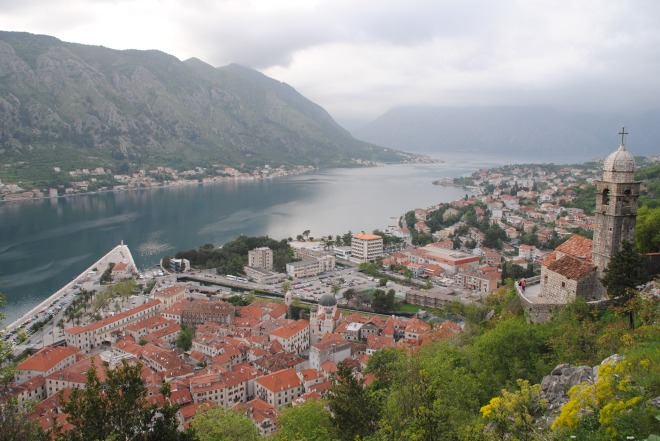 Walking the city wall in Kotor 5