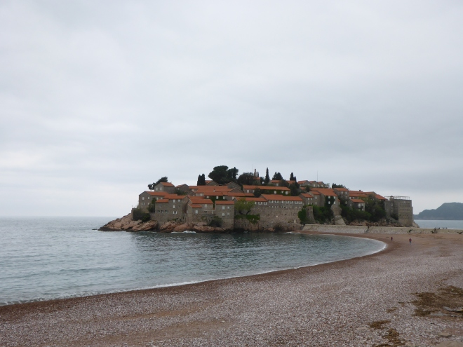 Sveti Stefan up close, but not close enough...