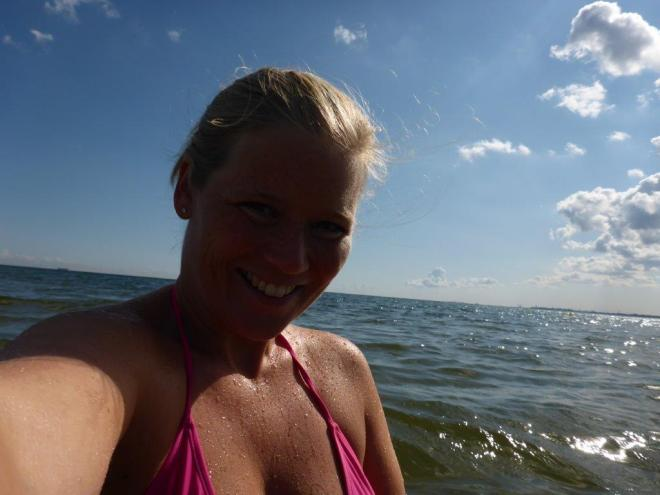 Finally swimming in the ocean again! In Sopot Poland