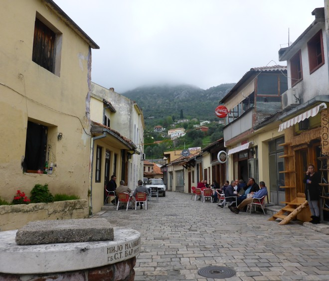 Street life in Stari Bar.