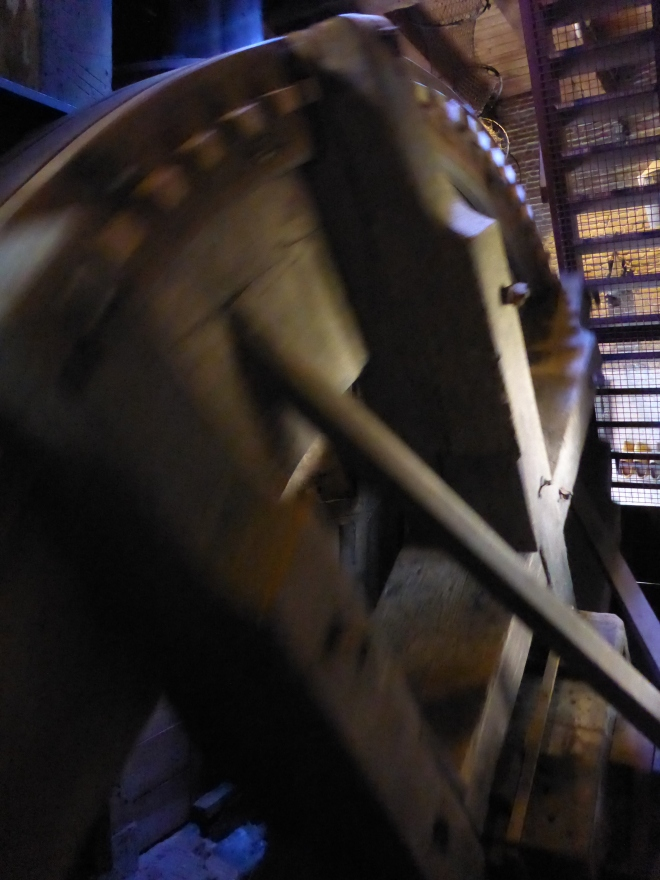 The mill wheel at Museum Mill Blokweer in Kinderdijk