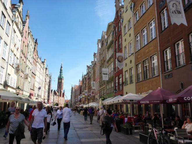 The old Hanseatic town Gdansk in Poland 2