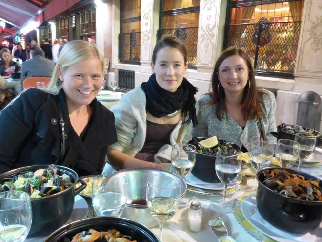 Off course we had to eat moules frites