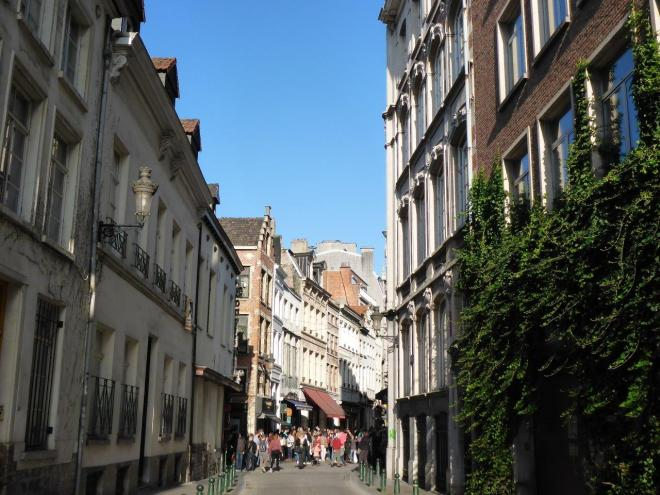Streets and houses in Brussels, Belgium