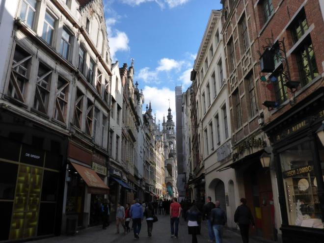 Streets and houses in Brussels, Belgium4