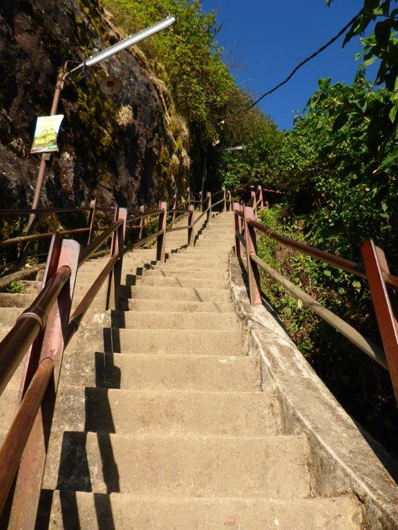 The last part of the stairs leading to the top of Adam's Peak.