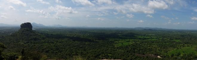 Beautiful view including Sigiriya Rock seen from Pidurangala Rock 2