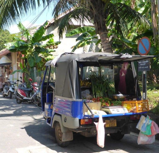 Car selling vegetables