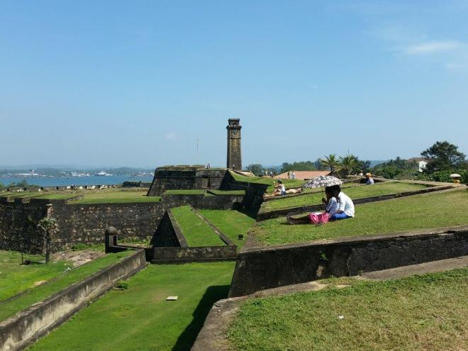 Galle fort and the clock tower