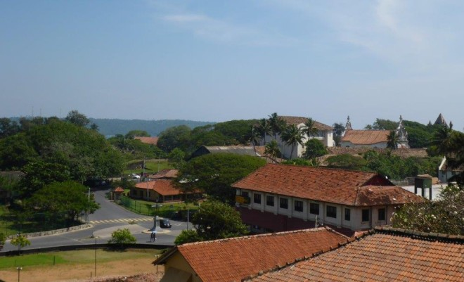 Galle seen from the clock tower.