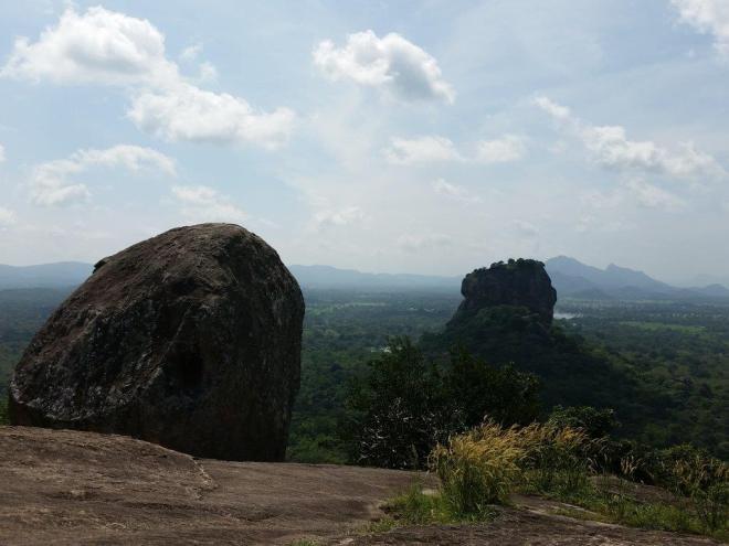 Great view including Sigiriya Rock seen from Pidurangala Rock