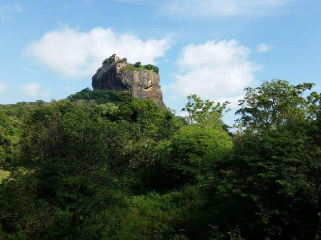Sigiriya Rock, also called Lion Rock.