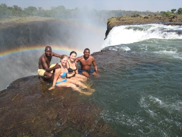 Devils Pool at the edge of Victoria Falls in Zambia