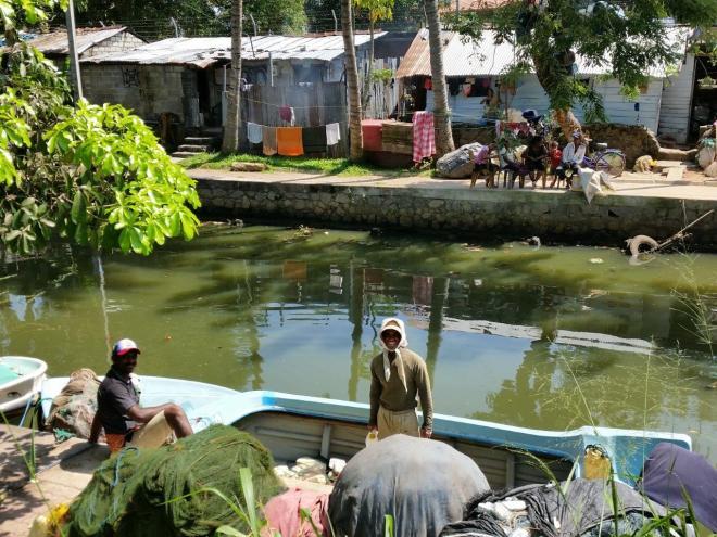 Fishermenn in the Dutch Canal in Negombo, Sri Lanka
