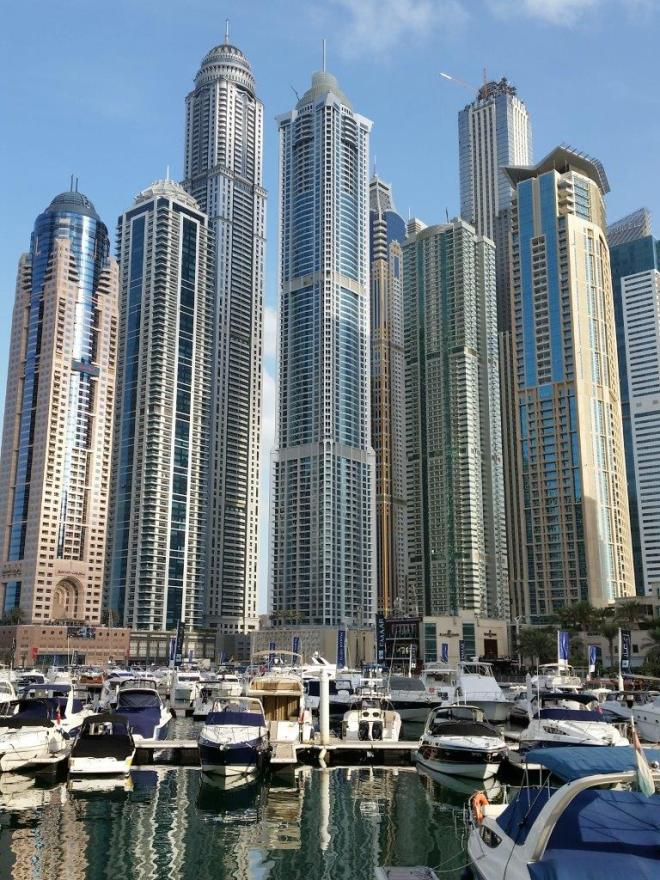 High-raised buildings at Dubai Marina
