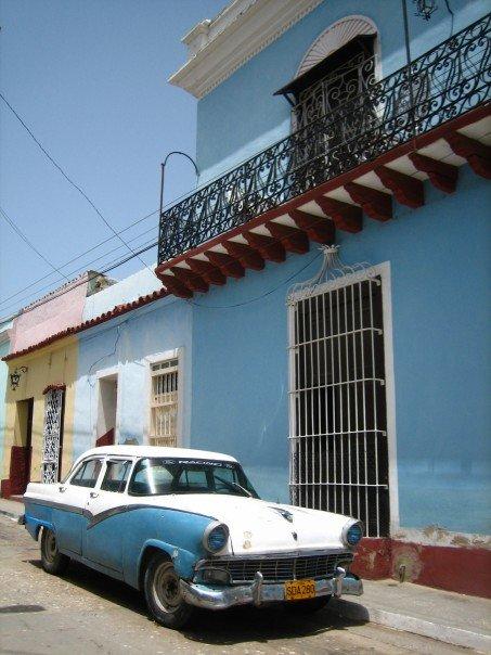 Old American car in Trinidad, Cuba