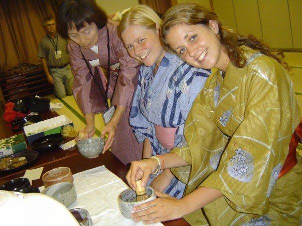 Tea ceremony in Hiroshima in Japan