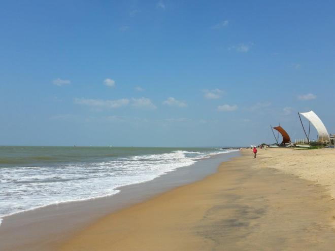 The beach in Negombo looks better in the photo than in real life...