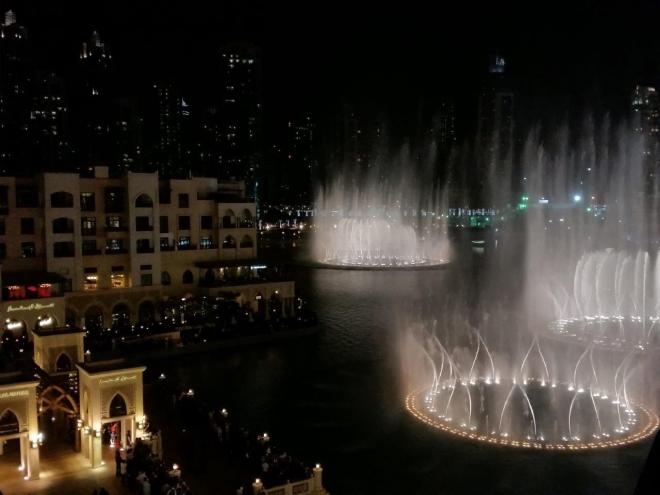 The dancing Dubai Fountain