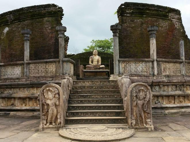 The Vatadage at the sacred Quadrangle in Polonnaruwa.