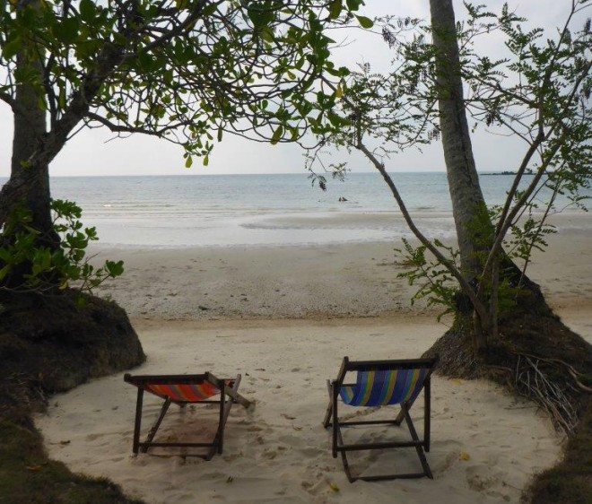 A nice spot at the beach at Dusita Resort, Koh Kood